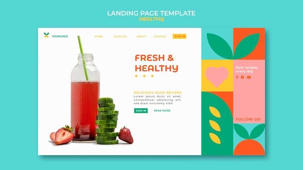 Healthy landing page Premium Psd