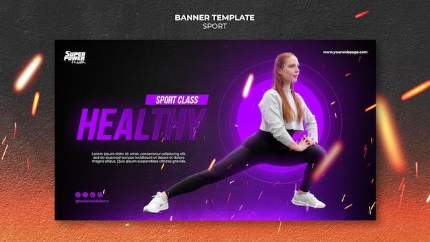 Modello di banner stile di vita sano