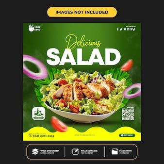 Healthy menu promotion social media instagram post banner template
