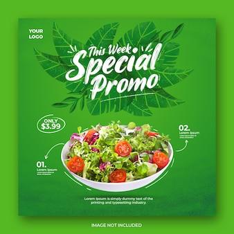 Healthy menu promotion social media instagram template