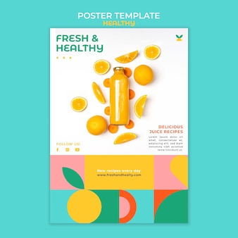 Healthy poster template