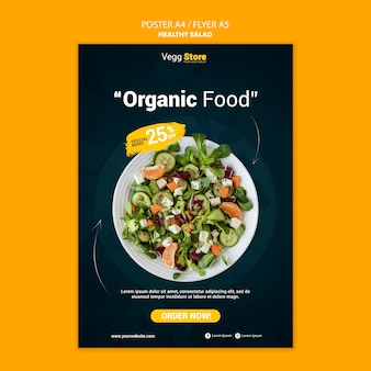 Healthy salad print template