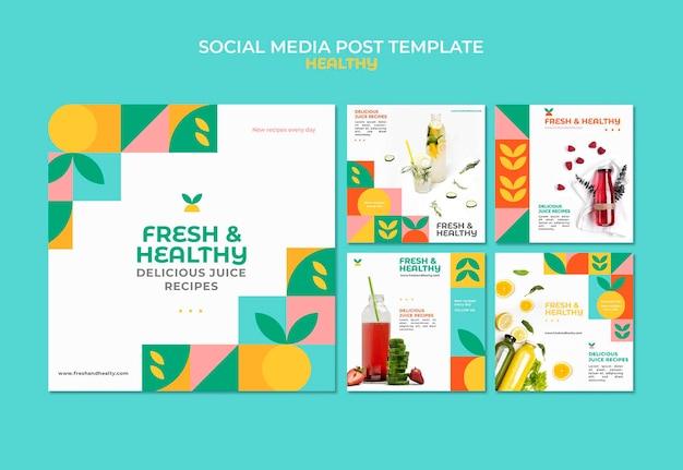 Healthy social media post