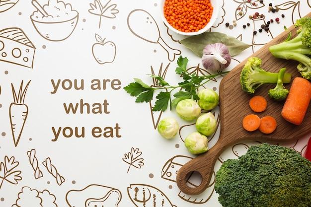 요리를위한 건강 야채