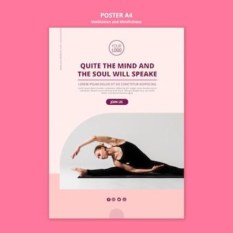 Healthy yoga and meditation life poster