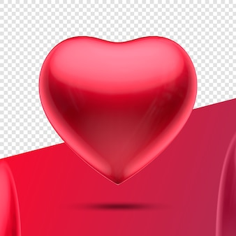 Heart 3d icon red