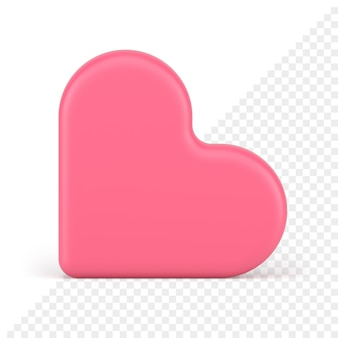 Значок сердца 3d