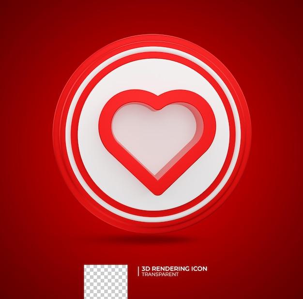 심장 3d 렌더링 아이콘 그림