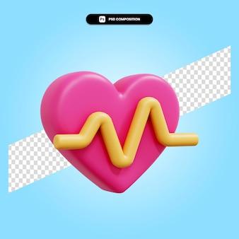 Сердце 3d визуализации изолированных иллюстрация