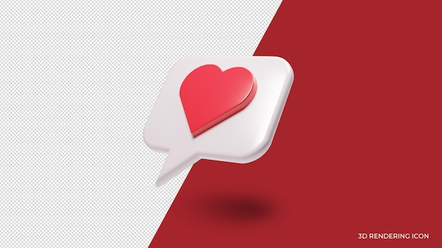 Heart chat love icon isolated