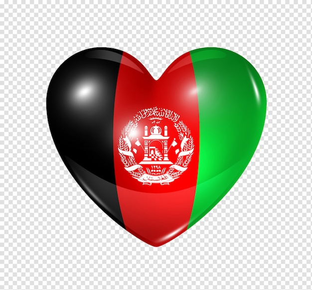 Heart icon with flag of afghanistan