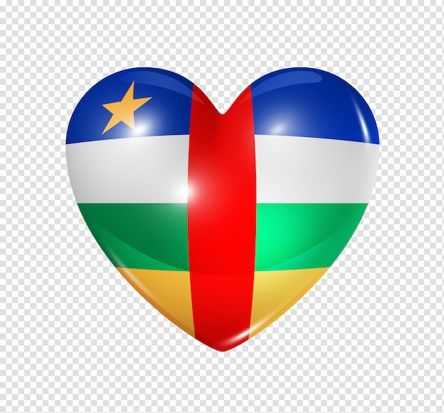 Heart icon with flag of central african republic
