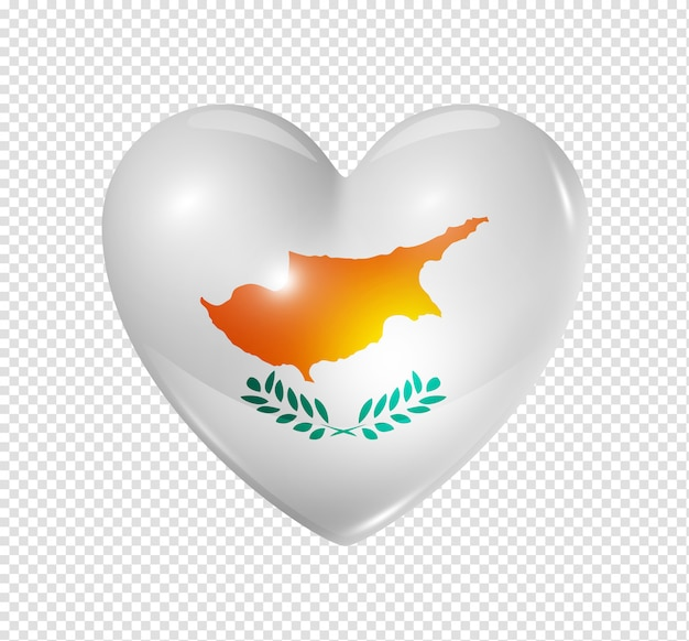 Heart icon with flag of cyprus