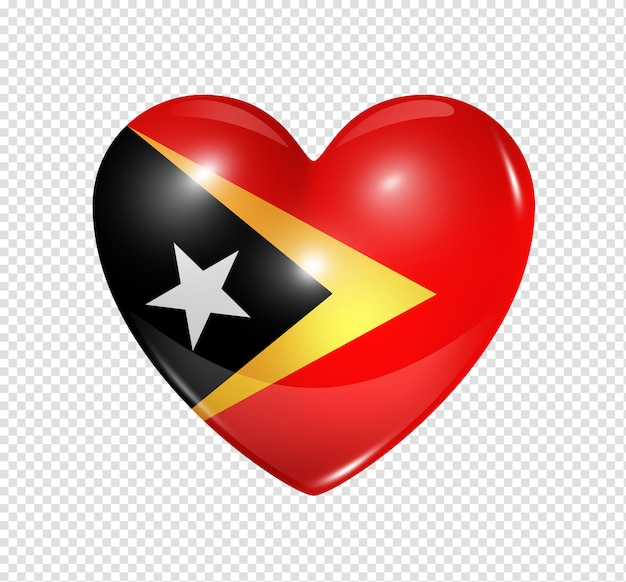 Heart icon with flag of east timor