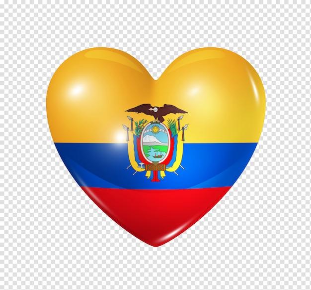 Heart icon with flag of ecuador