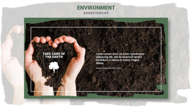 Heart shape and dirt banner template