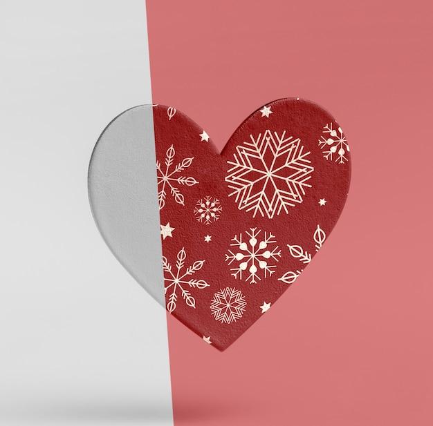 Макет орнамента в форме сердца