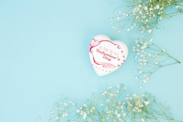 발렌타인 하트 모양의 상자 모형