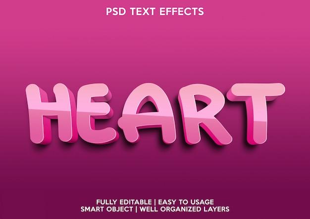 Сердечный текстовый эффект