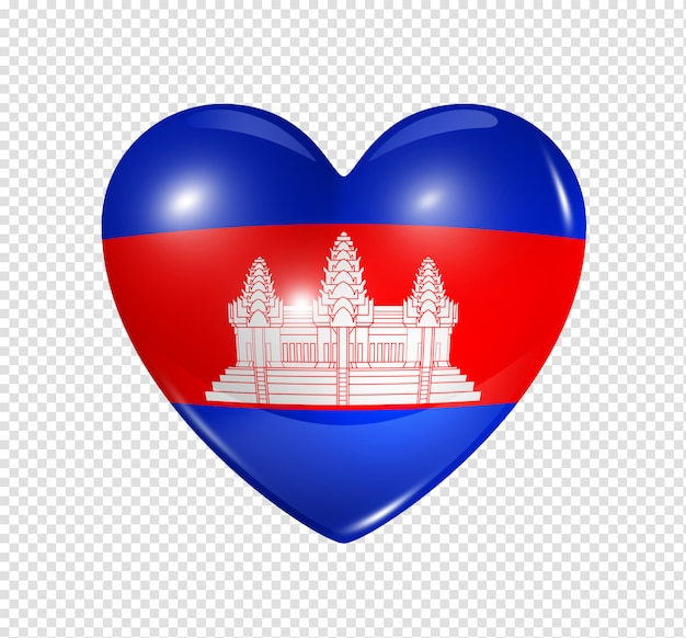 Heart with cambodia flag