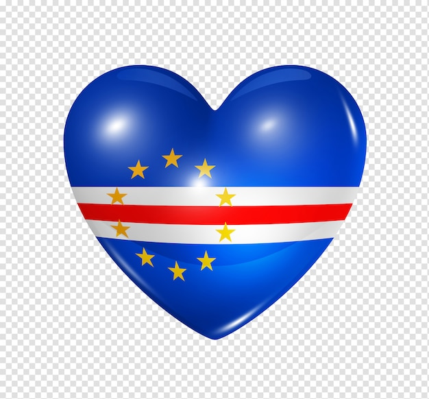 Heart with cape verde flag