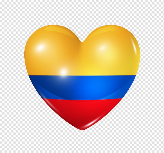 Heart with colombia flag