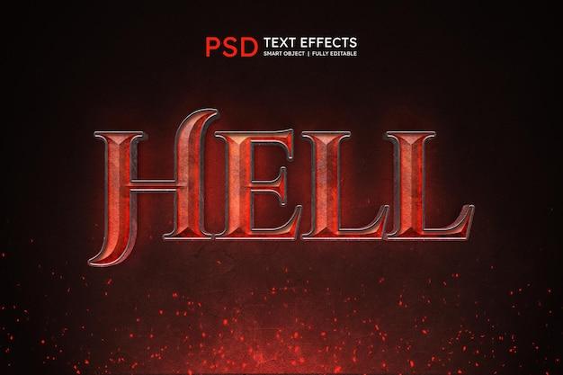 Эффект стиля текста ада