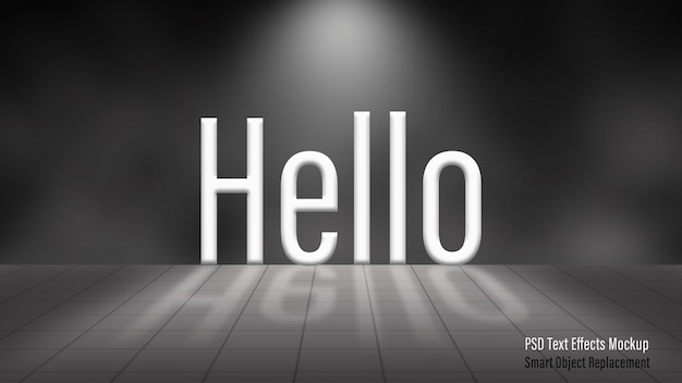 Hello 3d text effectsモックアップ