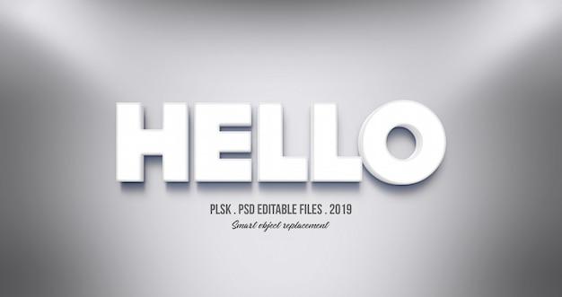 Реалистичный текстовый эффект hello 3d
