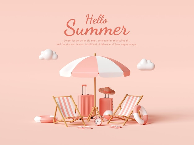 Привет, летний дизайн шаблона