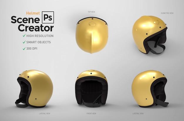 Helmet. scene creator. 3d