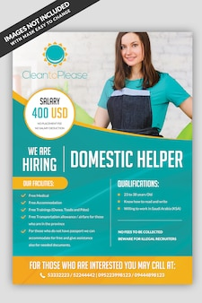 Helper hiring maid flyer