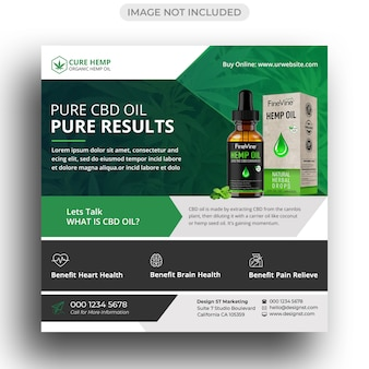 Hemp product social media post template