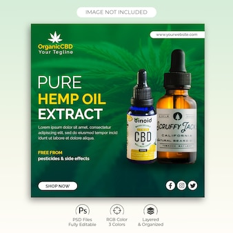 Hemp products banner template