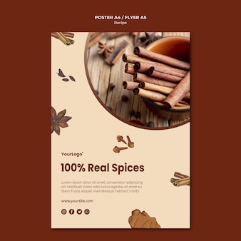 Herbs and spices flyer template