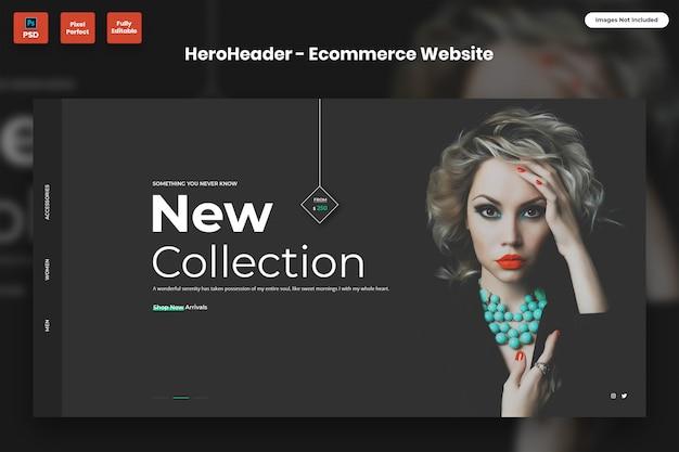 Hero header for ecommerce websites