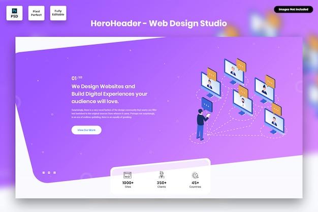 Hero header для сайтов веб-агентств