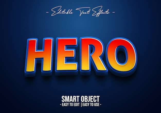 Герой-text-style-effect
