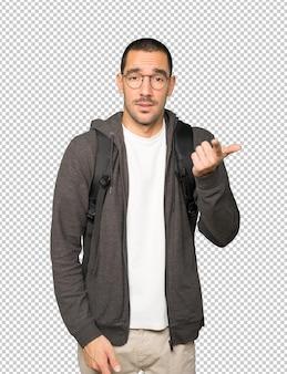 Нерешительный студент, указывая на вас пальцем
