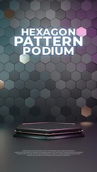 Дисплей продукта hexagon 3d podium
