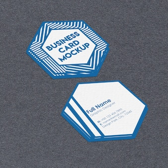 Макет визитной карточки шестиугольника