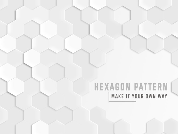 Hexagon pattern background