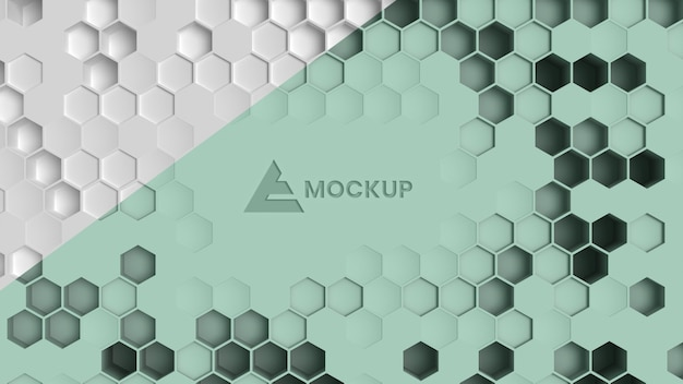 Hexagonal 3d background