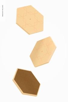 육각 코스터 모형, 부동