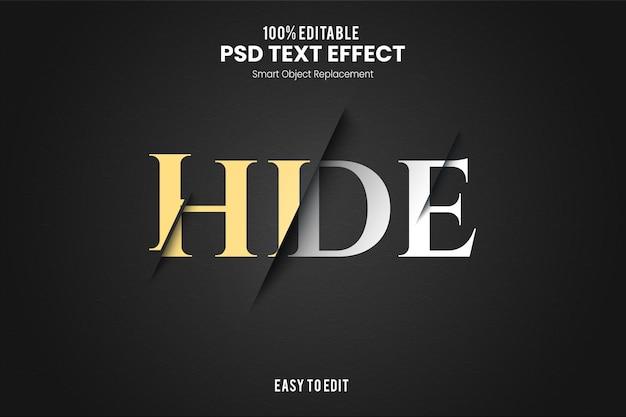 Hidetext эффект
