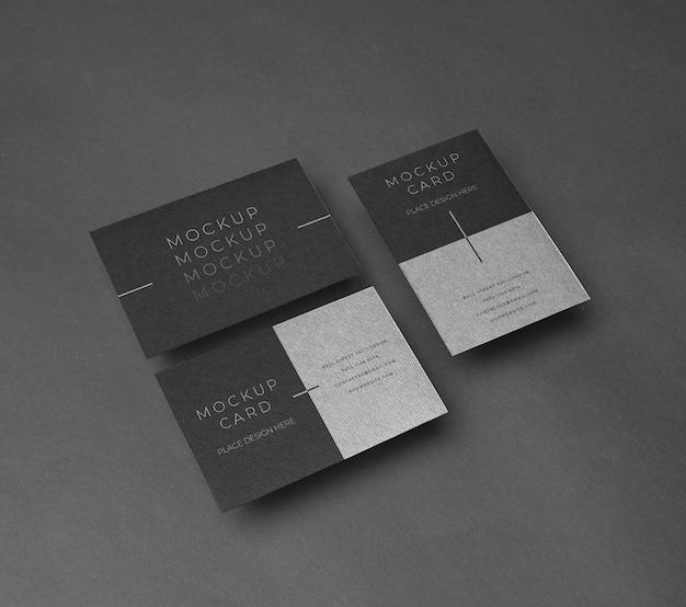 ハイアングル企業の文房具のモックアップ