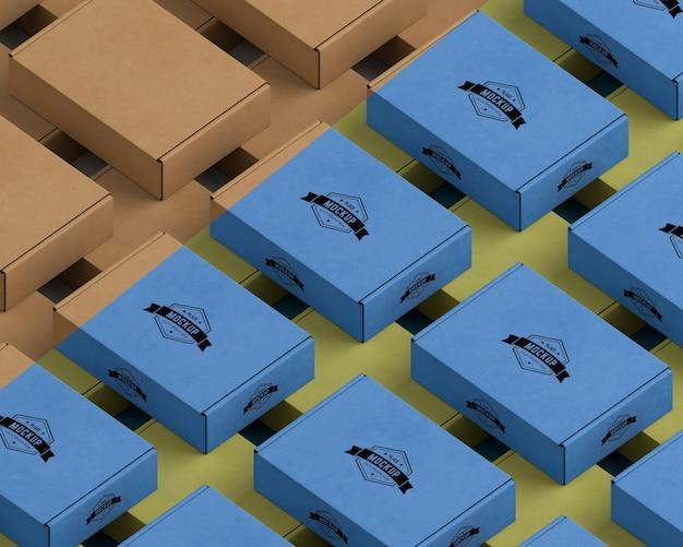 Изометрическая компоновка пакетов под большим углом