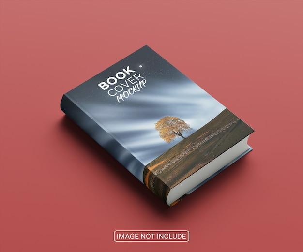 높은 각도의 미니멀리스트 책 표지 모형