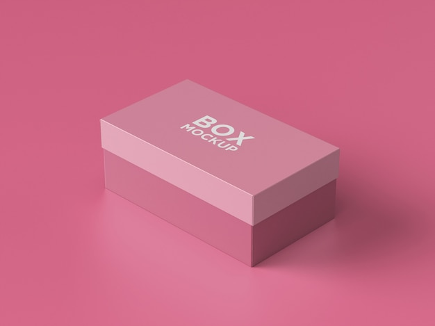 High angle of packaging box mockup isolated