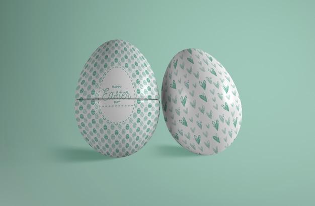 Uova dipinte alto angolo per pasqua